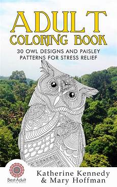 adult coloring book 30 owl designs and paisley patterns
