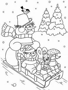 winter coloring pages and print winter coloring