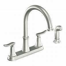 moen 2 handle kitchen faucet moen solidad 2 handle high arc kitchen faucet