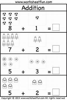 picture addition beginner addition kindergarten addition 5 worksheets free printable