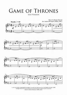 download game of thrones theme easy piano sheet music by