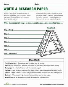 research paper writing worksheets 15719 steps to writing a research paper worksheet education
