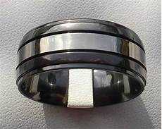 mens domed two tone wedding ring love2have in the uk
