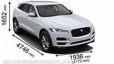 dimensions of jaguar f pace 2018 dimensions of jaguar cars showing length width and height