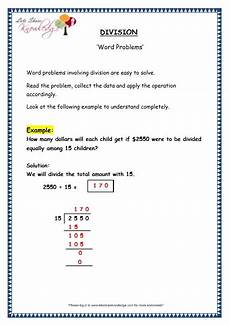 division worksheets explained 6176 grade 4 maths resources 1 7 6 division word problems printable worksheets lets knowledge