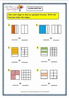 equivalent fraction worksheets grade 3 3916 grade 3 maths worksheets 7 5 equivalent fractions lets knowledge