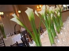 calla wedding centerpieces youtube