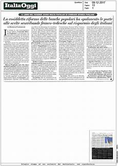 elenco banche tedesche italia oggi 9 12 2017 le cosiddetta riforma delle