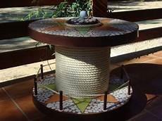 gartentisch holz kabeltrommel mosaik versch 246 nern