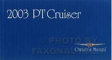 free car manuals to download 2002 chrysler pt cruiser electronic valve timing 2003 chrysler pt cruiser owner s manual original
