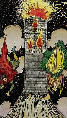 He Xvi The Blasted Tower Tarot Cards