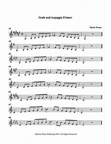 scale patterns and arpeggio primer for trumpet by ponzo mark qpress