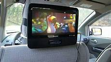 auto dvd player philips dual 9 quot headrest screen dvd player for your car