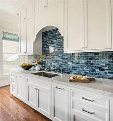 Blue Tile Backsplash Kitchen Artistic Designs For Living Backsplash For White