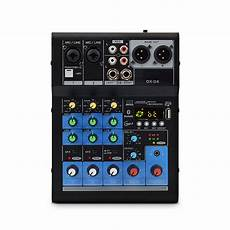 Bakeey Professional Channel Sound Card Channel by Professional Bluetooth Sound Card 4 Channel Audio Mixer