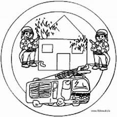brennendes haus basteln berufe mandala im kidsweb de
