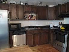 furniture appliances stylish restaining oak cabinets design for modern kitchen decor