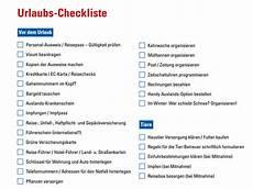 checkliste urlaub alles im urlaub checkliste chip