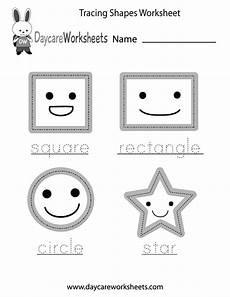 free preschool tracing shapes worksheet