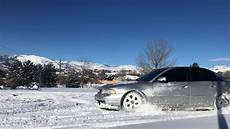 audi b5 s4 donuts in the snow youtube
