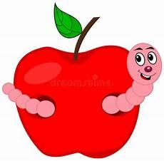 Malvorlagen Apfel Mit Wurm Ein Wurm Der Einen Apfel Isst Stock Abbildung