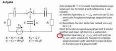 spannung an kondensator berechnen physik elektronik