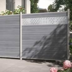 traumgarten sichtschutzzaun system wpc platinum grau
