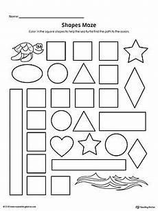 shape maze worksheet 1194 square shape maze printable worksheet anaokulu matematiği okuma geometri