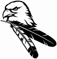 Malvorlage Indianer Feder Autoaufkleber Indianer Amerika Adler Feder Vogel Aufkleber