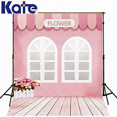 5x7ft Pink Wall Wooden Floor Photo by Kate 5x7ft Pink Wood Floor Flower Shop Wedding Background