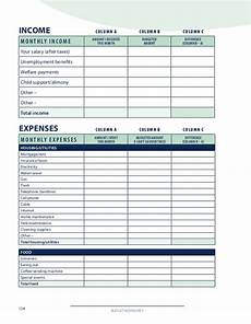 divorce budget worksheet