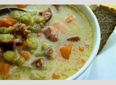country style smoked sausage  ham and split pea soup_image