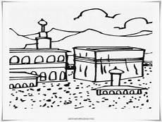 Kabah Kartun Hitam Putih Gambar Islami