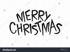 black white merry christmas text handwritten stock vector 448044637