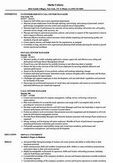 call center manager resume sles velvet