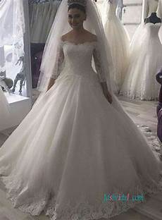 modest wedding gowns with 3 4 sleeves h0927 the shoulder 3 4 sleeve princess modest wedding