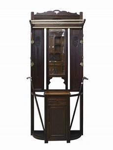 garderobe antik jugendstil garderobe wandgarderobe dielenm 246 bel antik jugendstil um 1900 eiche ebay