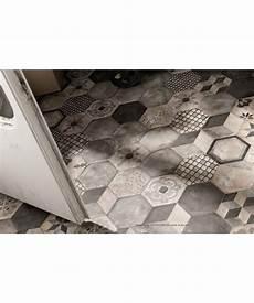 carrelage imitation carreaux de ciment en hexagone marque