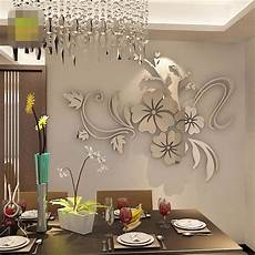 3d Mirror Flower Removable Wall Sticker Acrylic Mural