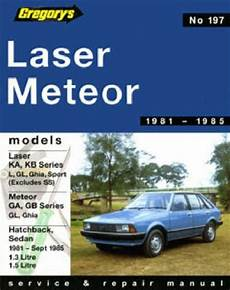 online auto repair manual 1985 ford laser electronic toll collection ford laser ka kb meteor ga gb 1981 1985 gregorys service repair manual sagin workshop car