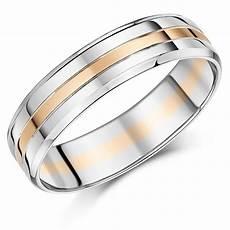 palladium and 9ct rose gold ring 6mm men s wedding ring ebay
