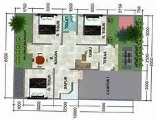 30 Denah Dan Desain Rumah Minimalis 3 Kamar Tidur 1 Lantai