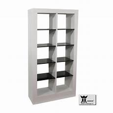 mensole nere libreria moderna laccato bianco lucido e nero lucido primo