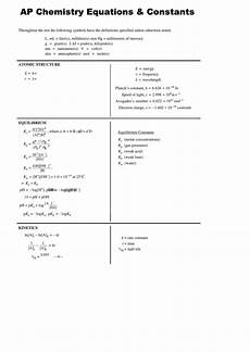 top ap chemistry formula sheets free to download in pdf word and excel formats
