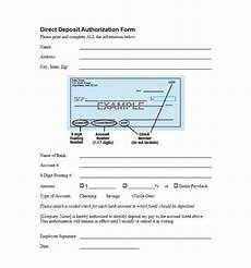 47 direct deposit authorization form templates template archive
