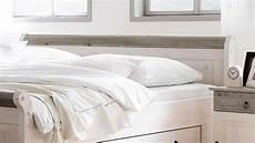 Bett Weiß 200x200 - bett oslo doppelbett aus kiefer massiv wei 223 lava 200x200 cm
