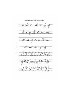 handwriting worksheets for cursive 22000 lowercase and uppercase cursive alphabet d nealian cursive printable teachervision