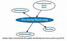 pro forma rechnung definition gabler wirtschaftslexikon