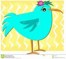 Malvorlage Vogel Mit Blume Blauer Vogel Mit Blume Vektor Abbildung Illustration