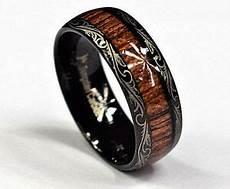 tungsten carbide men s s black wedding engagement koa inlay ring ebay